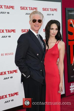 Matthew Modine and Ruby Wylder - Premiere of Columbia Pictures' 'Sex Tape' - Arrivals - Los Angeles, California, United States...