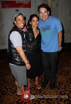 Angela Robinson, Alexandra Kondracke and Guest - 2014 Outfest Opening Night Gala Premiere Of \Life Partner\ Arrivals - Los Angeles,...
