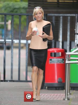 Michelle Collins - Michelle Collins outside the ITV studios - London, United Kingdom - Thursday 10th July 2014