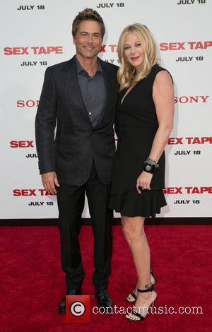 Rob Lowe and Sheryl Berkoff - Premiere of Columbia Pictures' 'Sex Tape' - Arrivals - Los Angeles, California, United States...