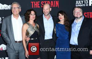 Carlton Cuse, Natalie Brown, Corey Stoll, Mia Maestro and Guillermo Del Toro