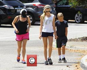 Reese Witherspoon, Ava Phillippe and Deacon Phillippe - Reese Witherspoon takes a walk with her children in Santa Monica -...