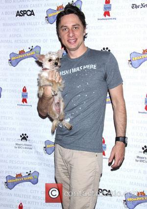 Zach Braff - Broadway Barks 16, a star-studded animal adoption event held in Shubert Alley - Arrivals. - New York,...