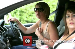 Katie Price, Joanna Behind Wheel and Colleague From The 4d Baby Scan Team
