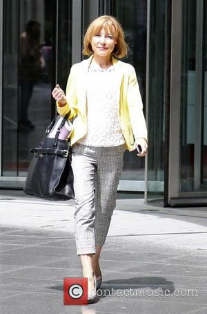 Sian Williams - Sian Williams leaving BBC Broadcasting House - London, United Kingdom - Sunday 13th July 2014