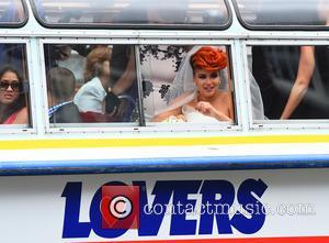 Eva Simons - Eva Simons, Dutch singer-songwriter, marries Sidney Samson - Amsterdam, Netherlands - Monday 14th July 2014