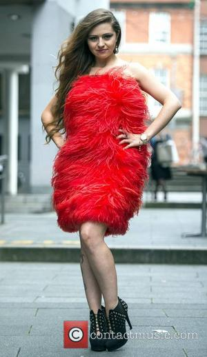 Alina Dobos wears Iryna Belova - A private fashion show held at Temple Bar on Cows Lane for New York...