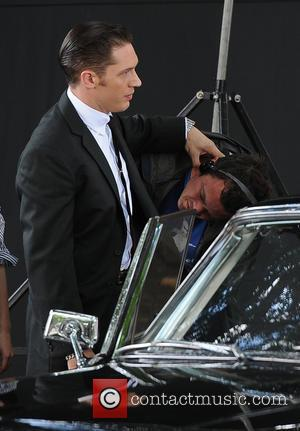 Tom Hardy - 'Legend' film set