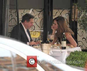 Charles Saatchi and Trinny Woodall - Charles Saatchi and girlfriend Trinny Woodall enjoy meal outside Scott's Seafood restaurant in Mayfair....