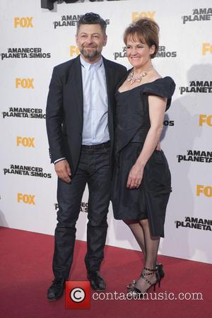 Andy Serkis  Lorraine Ashbourne and Lorraine Ashbourne - 'Dawn of the Planet of the Apes'  Madrid premiere at Capitol...