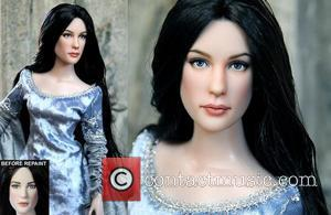 Liv Tyler and Arwen - Accomplishing this feat requires many photos of the famous person/character, plenty of time, and a...