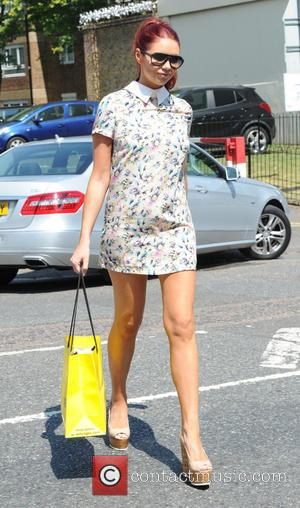 Amy Childs - Amy Childs arrives at Fubar Radio - London, United Kingdom - Friday 18th July 2014