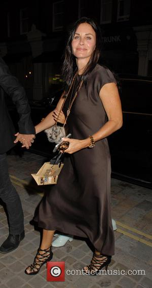 Courteney Cox - Celebrities at Chiltern Firehouse in Marylebone - London, United Kingdom - Friday 18th July 2014
