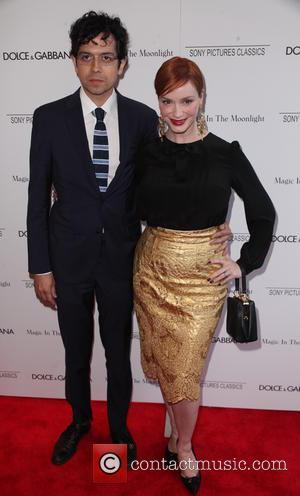Geoffrey Arend and Christina Hendricks - New York premiere of 'Magic In The Moonlight' at The Paris Theatre - Arrivals...
