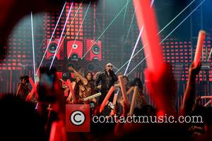 Pitbull - Premios Juventud 2014 at The BankUnited Center - Show - Coral Gables, Florida, United States - Friday 18th...