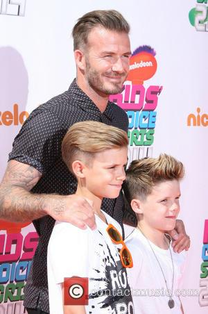 David Beckham And Sons Slimed At Kids' Choice Sports Awards