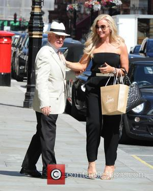 Michelle Mone - Michelle Mone out and about on a sunny day in London. While out she enjoyed a glass...