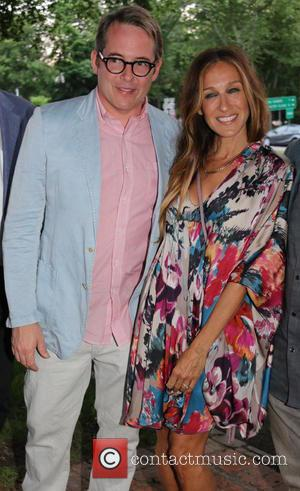 Matthew Broderick and Sarah Jessica Parker - Opening night of 'Clever Little Lies' held at the Guild Hall - Arrivals...