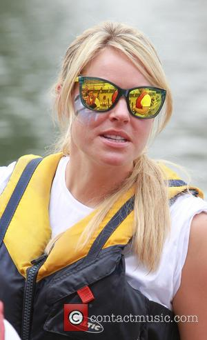 Chemmy Alcott - Olympic Skier Chemmy Alcott and her husband Dougie Crawford take part in a Dragon boat race. -...