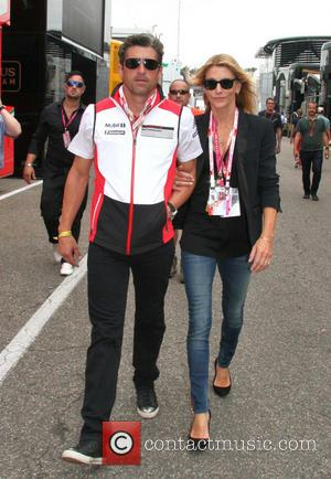 Patrick DEMPSEY with his wife Jillian - Formula 1 - 2014 German Grand Prix - Hockenheimring, Baden Wuerttemberg, Germany -...