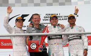 Rosberg Nico and Lewis Hamilton