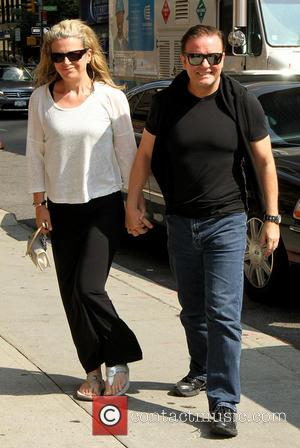 Rickey Gervais - Celebrities outside the Ed Sullivan Theater as they arrived for their taping on the Late Show with...