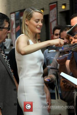 Taylor Schilling - Celebrities outside the Ed Sullivan Theater as they arrived for their taping on the Late Show with...