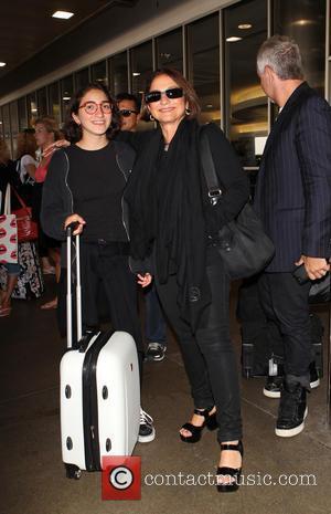 Gloria Estefan and Emily Marie Consuelo - Gloria Estefan and her daughter Emily Marie Consuelo at Los Angeles International Airport...