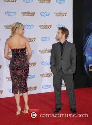Seth Green and Clare Grant - Film Premiere of Guardians of the Galaxy - Los Angeles, California, United States -...