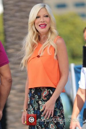 Tori Spelling - Tori Spelling appears on entertainment show 'Extra' - Los Angeles, California, United States - Tuesday 22nd July...