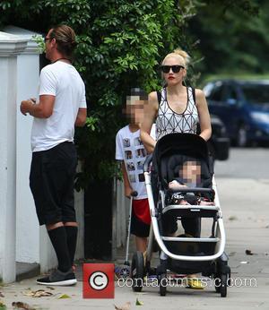 Gavin Rossdale, Gwen Stefani, Kingston Rossdale and Apollo Rossdale