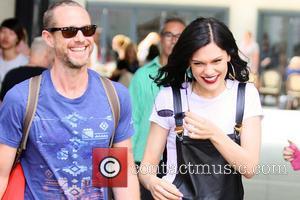 Jessie J and Guest - Jessie J leaving BBC Radio 1 studios - London, United Kingdom - Wednesday 23rd July...