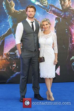 Chis Hemsworth and Elsa Pataky - 'Guardians of the Galaxy' UK film premiere held at the Empire cinema - Arrivals...