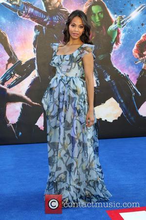 Zoe Saldana - 'Guardians of the Galaxy' UK film premiere held at the Empire cinema - Arrivals - London, United...