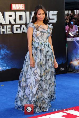 Zoe Saldana - 'Guardians of the Galaxy' - UK film premiere held at the Empire cinema - Arrivals - London,...