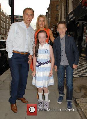 Phil Neville, Tracey Neville, Isabella Neville and Harvey Neville