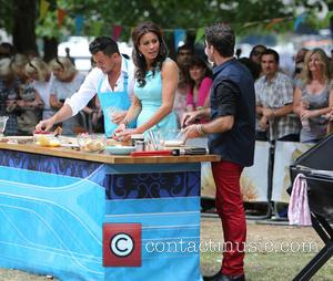 Peter Andre, Gino D'acampo and Melanie Sykes
