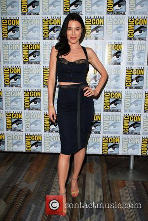 Jaime Murray - Cast members from 'Defiance' make an appearance in the press room at San Diego Comic Con 2014...