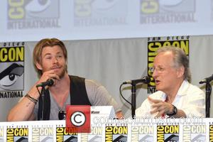 Chris Hemsworth and Michael Mann - Legendary Pictures panel press conference at San Diego Comic Con 2014 - San Diego,...