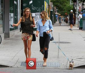 Jessica Hart and Ashley Hart - Jessica Hart and Ashley Hart out and about in New York City walking the...