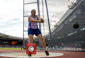 Rachel Hunter - Team Scotland's Rachel Hunter competes in the hammer throw. - Glasgow, Scotland, United Kingdom - Monday 28th...