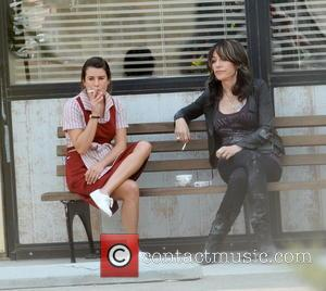 Lea Michele and Katey Sagal