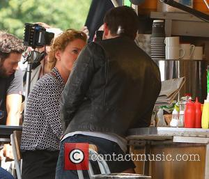 Bradley Cooper and Uma Thurman - Bradley Cooper and Uma Thurman film a scene for their next movie in Notting...