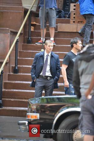 Ben Mckenzie - Filming on location for Fox's Batman prequel TV series 'Gotham' - New York City, New York, United...