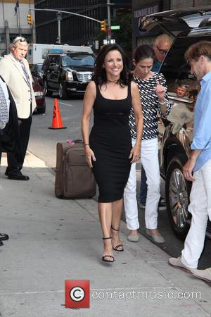 Julia Louis-Dreyfus - Celebrities outside The Ed Sullivan Theater for The Late Show with David Letterman - New York City,...