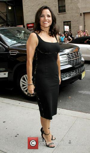 Julia Louis-Dreyfus - Celebrities arrive for their taping on the Late Show with David Letterman. - New York, New York,...