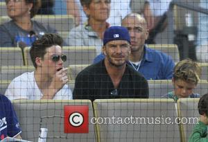 David Beckham, Brooklyn Beckham and Romeo Beckham