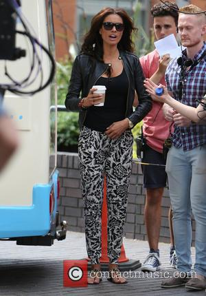 Melanie Sykes - 'Let's Do Lunch with Gino & Mel' filming on London's Southbank - London, United Kingdom - Friday...