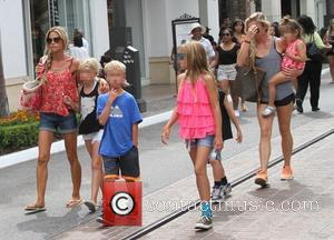 Denise Richards - Denise Richards shops at The Grove with her family - Los Angeles, California, United States - Saturday...