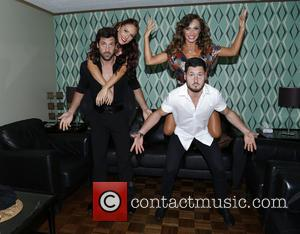 Maksim Chmerkovskiy, Sharna Burgess, Karina Smirnoff and Val Chmerkovskiy - Backstage at Ballroom with a Twist at the NYCB Theatre...